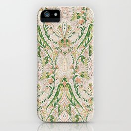 Green Pink Leaf Flower Paisley iPhone Case
