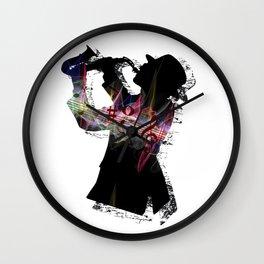 Saxophone Man Wall Clock