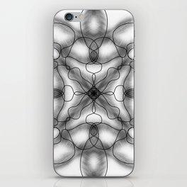 Black and white mandala iPhone Skin
