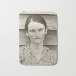 Allie Mae Burroughs by Walker Evans Bath Mat