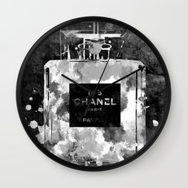 No 5 Black and White Wall Clock