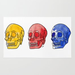 Primary skulls - set 2 Rug