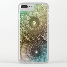 Togetherness, Fractal Art Abstract Clear iPhone Case