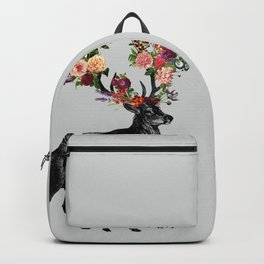 Spring Itself Deer Floral Backpack
