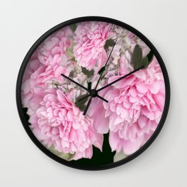 Pink Bouquet On A Black Background  #society6 #buyart Wall Clock