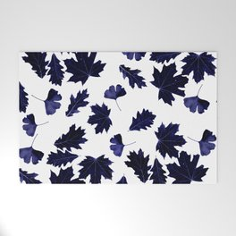 Indigo Blue Sun-Dyed Leaves Welcome Mat