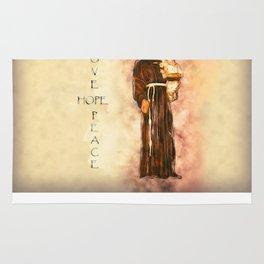 St. Francis Peace, Hope, Love Rug