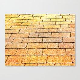 Yellow brick road Canvas Print