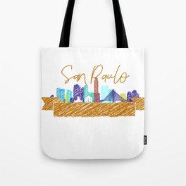 Cute San Paulo skyline design Tote Bag
