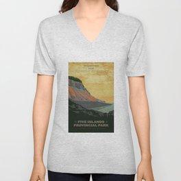Five Islands Provincial Park Poster Unisex V-Neck