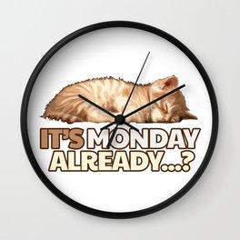 Lazy Cat - Monday Blues Wall Clock