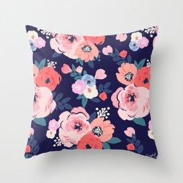 Aurora Floral Throw Pillow
