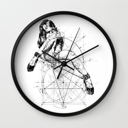 Samael Lilith and the Golden ratio Wall Clock