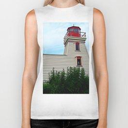 Lighthouse in the Garden Biker Tank