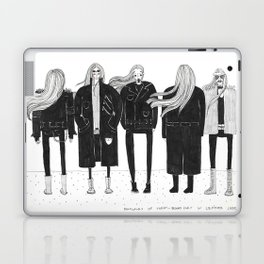 The dinosaurs of today - Skinny men in leather jackets Laptop & iPad Skin