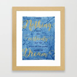 Van Gogh Quote Framed Art Print