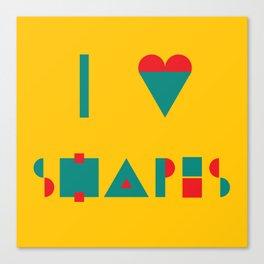 I heart Shapes Canvas Print
