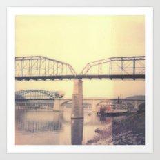 Chattanooga Bridge Polaroid Art Print