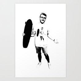 Skateboard Inception Art Print