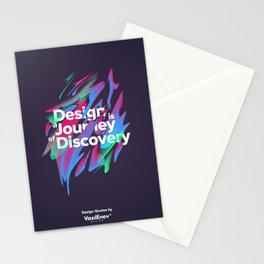 Design is a Journey of Discovery Stationery Cards