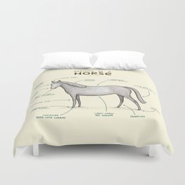 Anatomy of a Horse Duvet Cover