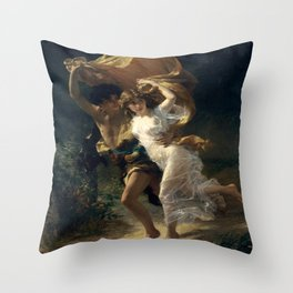 The Storm By Pierre Auguste Cot Throw Pillow