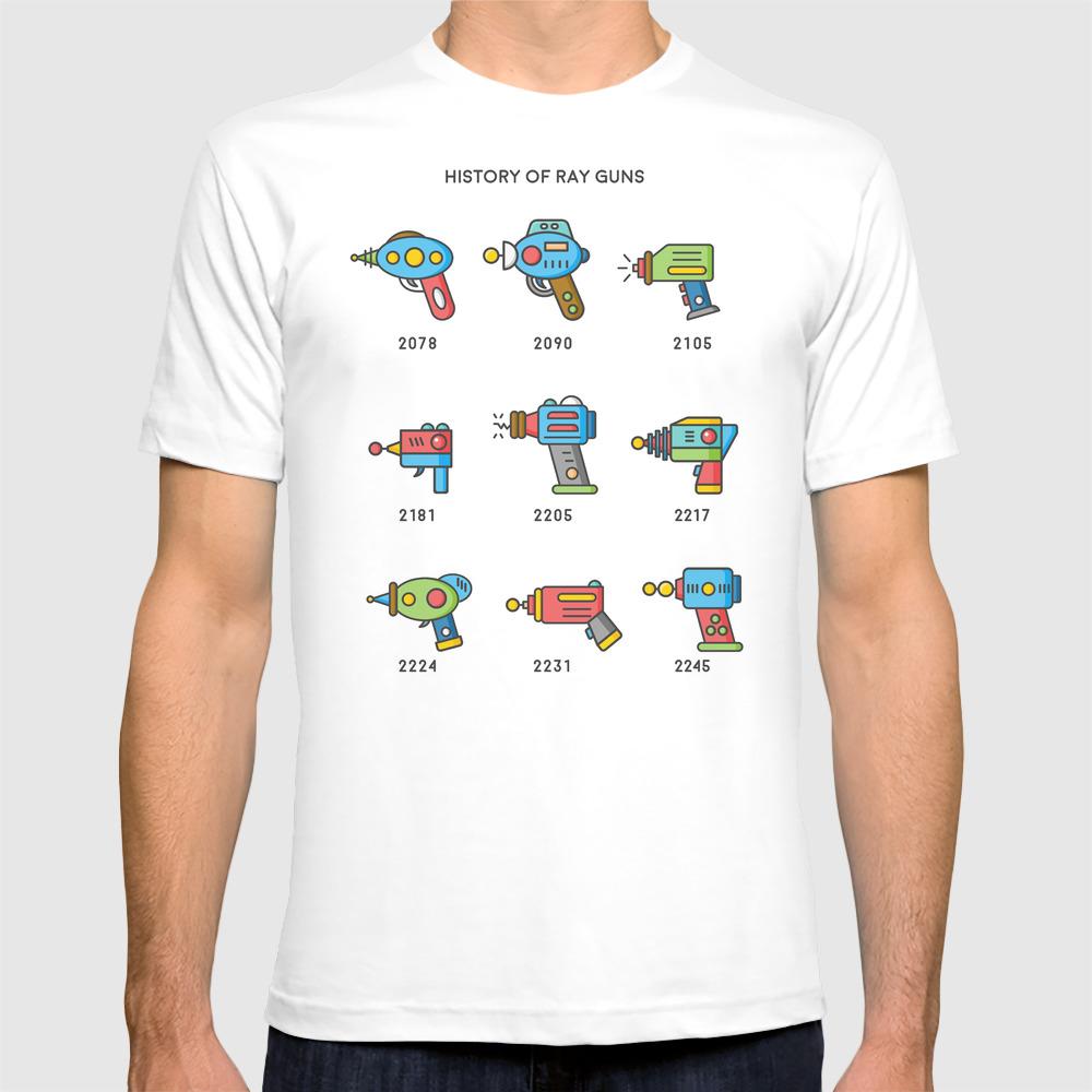 History Of Ray Guns T-shirt by Mylesart TSR8943652