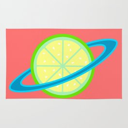 Planet Lime   Lime   Citrus   Fruit   Solar System   Planets   pulps of wood Rug