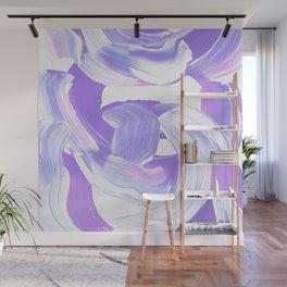 Shades of Purple Brush Stroke pattern #abstractart Wall Mural