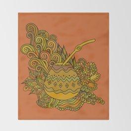 Yerba Mate In The Gourd Throw Blanket