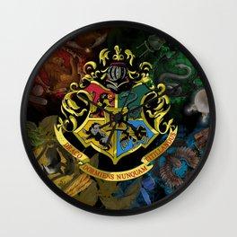 Hogwarts Logo Houses Wall Clock