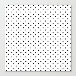 Minimal - Small black polka dots on white - Mix & Match with Simplicty of life Canvas Print