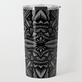 Sacred Geometry Flower of Life Mandala Travel Mug