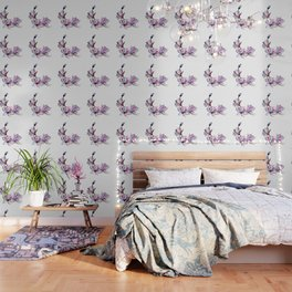 Watercolor Spring Floral and Leaves Collection Wallpaper