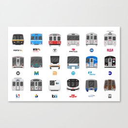 Subway Icons Canvas Print
