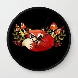 Lazy Foxy Wall Clock