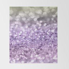 Purple Lavender Glitter #1 #shiny #decor #art #society6 Throw Blanket