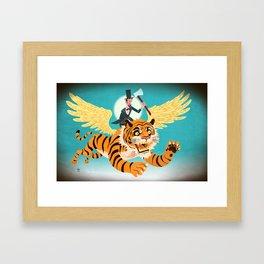 Abe Lincoln Flies a Tiger Framed Art Print