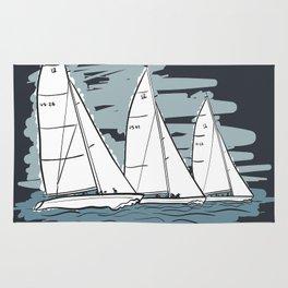 Sailbot Racing Buzzards Bay Rug