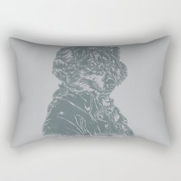 Wolf Amadeus Mozart Rectangular Pillow