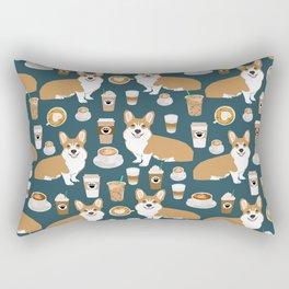 Corgi Coffee print corgi coffee pillow corgi iphone case corgi dog design corgi pattern Rectangular Pillow
