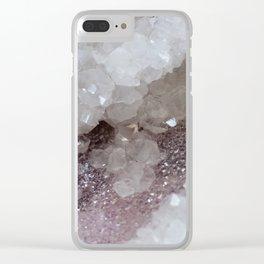 Silver & Quartz Crystal Clear iPhone Case