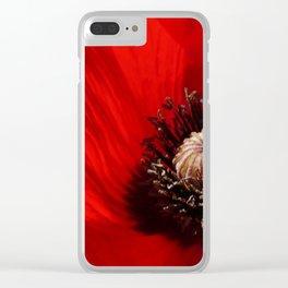 Sunlit Poppy Clear iPhone Case