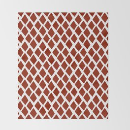 Rhombus Red And White Throw Blanket