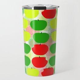 Summer Apple Picking Green, Red and Yellow Travel Mug