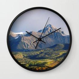 Evening light on The Sneffels Range Wall Clock