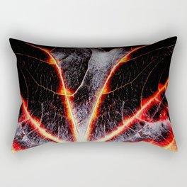 BLACK AUTUMN LEAVE Rectangular Pillow
