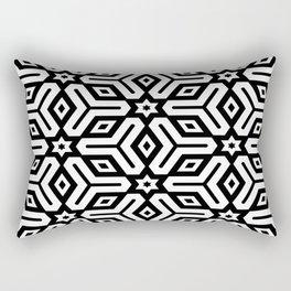 Black and White Geometric Pattern Rectangular Pillow