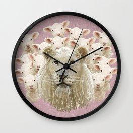 Lambs led by a lion Wall Clock