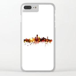 Dallas Texas Skyline Clear iPhone Case